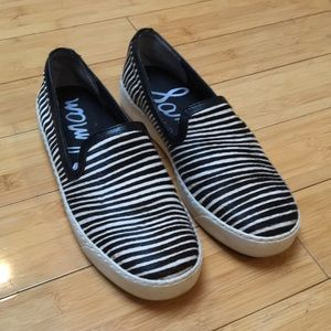 Sam Edelman Becker Zebra Print Calf Hair Slip On